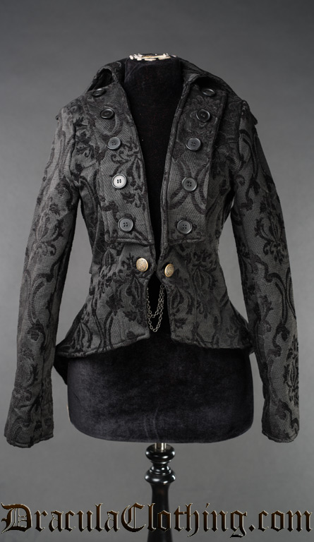 Black Brocade Titania Jacket