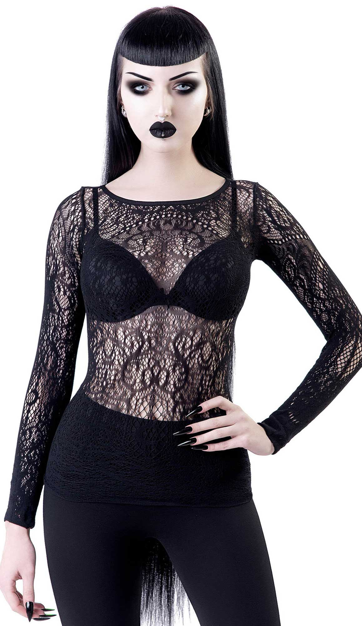 Killstar Capella Lace Top
