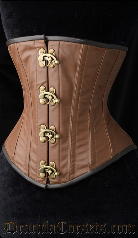 Classic Leather Steampunk Clasp Corset