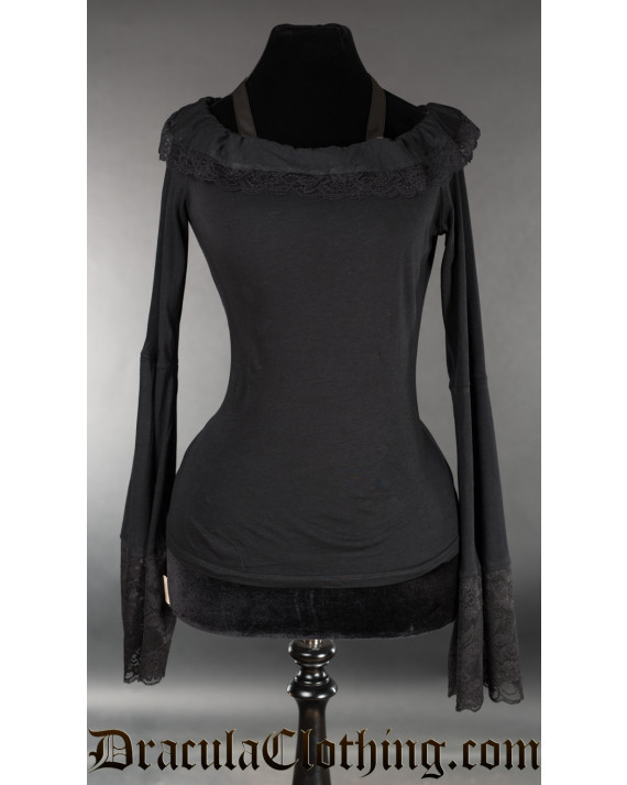 Black Steampunk Top