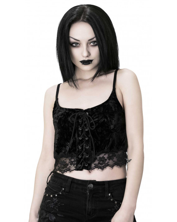 Killstar Dahlia Vest Top Black