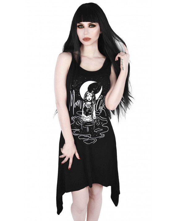 Killstar Moon Child Lace-Up Tunic