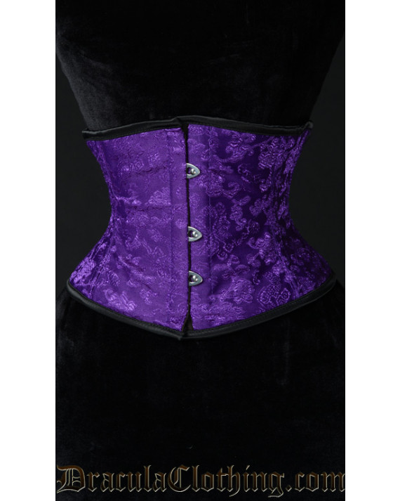 Purple Brocade Waist Cincher