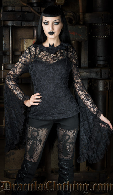Bat Trumpet Sleeved Top