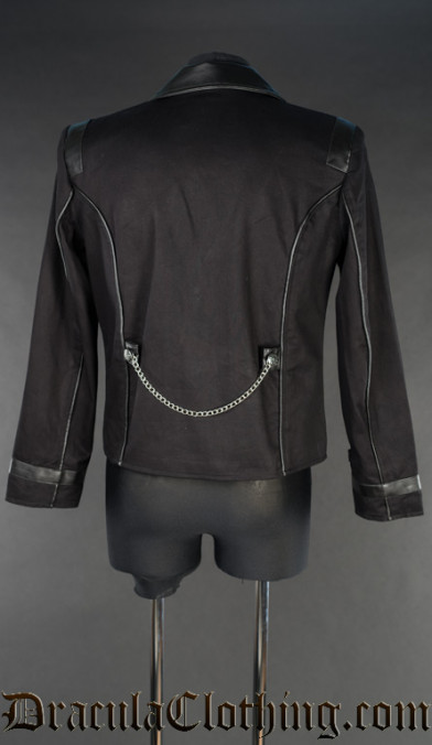 Black Steampunk Edison Jacket