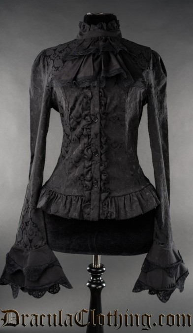 Brocade Cravat Blouse