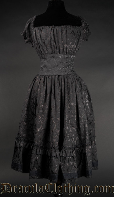 Brocade Gothabilly Dress