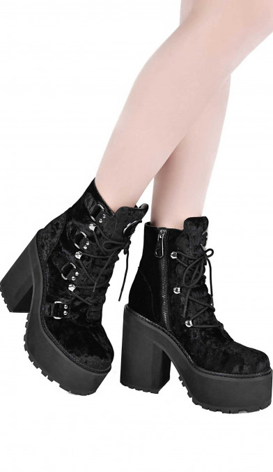Killstar Broom Rider Velvet Boots
