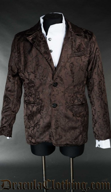 Brown Brocade Suit Jacket