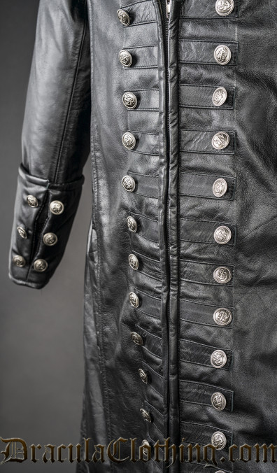 Real Leather Captain Coat