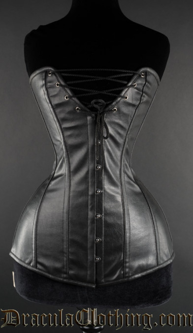 Faux Leather Cleavage Corset