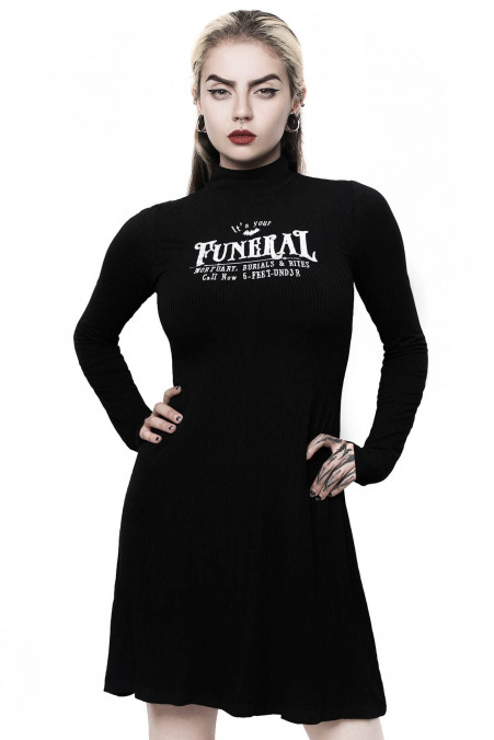 Killstar Funeral Long Sleeve Dress