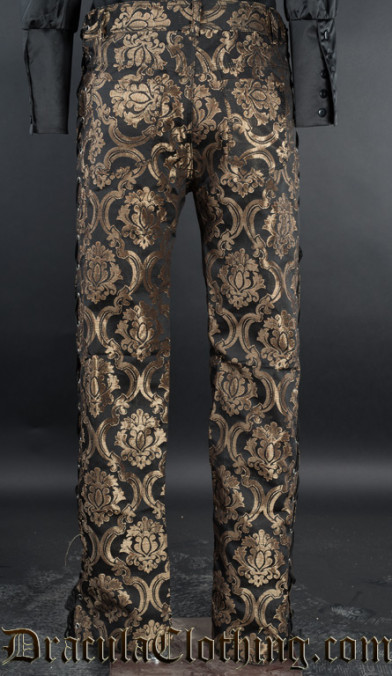 Gold Brocade Laced Pants