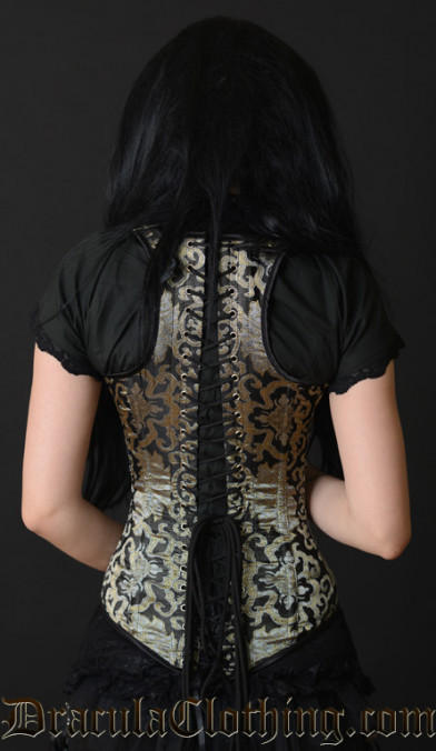 Gold Brocade Shoulder Corset