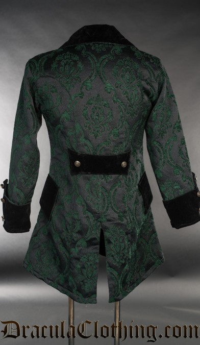 Green Brocade Pirate Jacket
