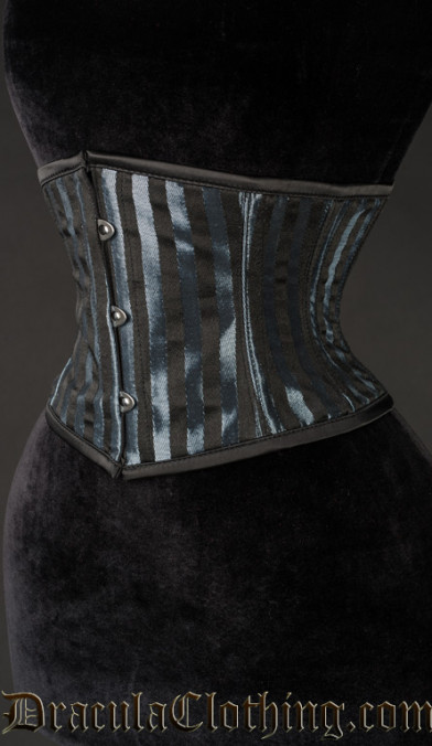 Grey Striped Waist Cincher