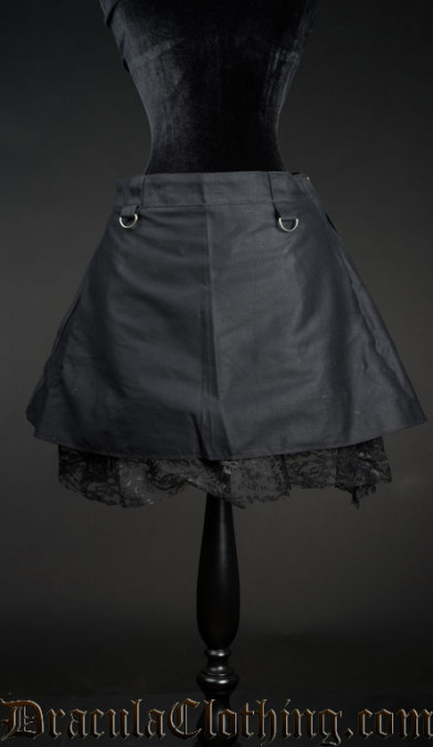 Pull Up Short Skirt