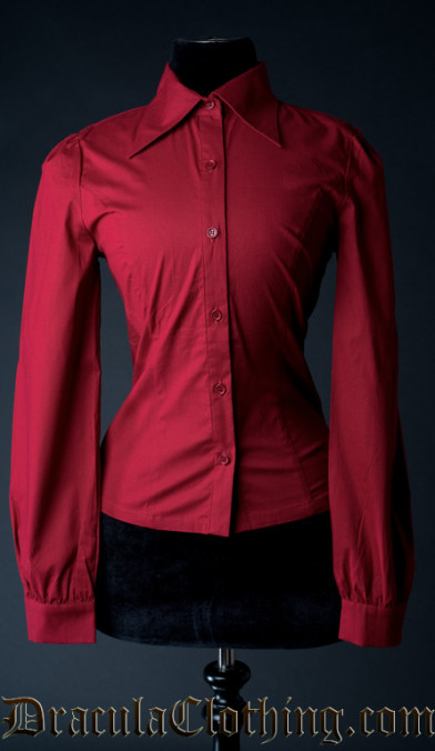 Red Cotton Marquess Blouse