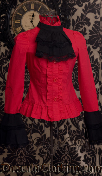 Red Cravat Blouse