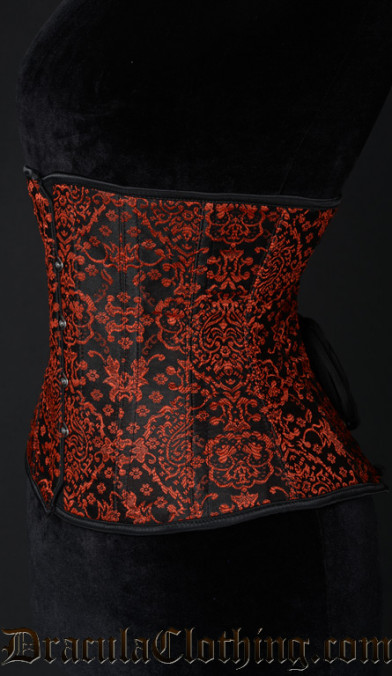 Red Jacquard Corset