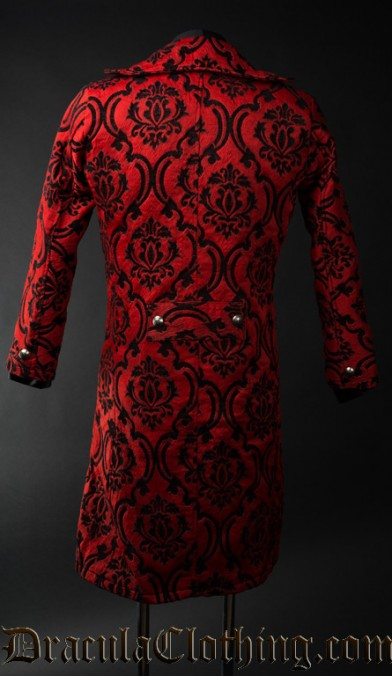 Red Jacquard Tailcoat
