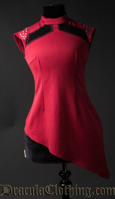 Red Spiked Tunic