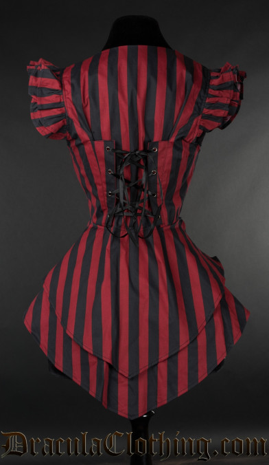 Red Striped Tailcoat Vest