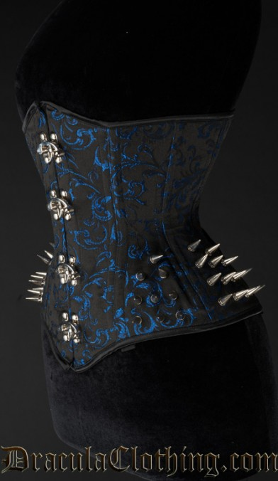 Sapphire Extreme Waist Spike Clasp Corset