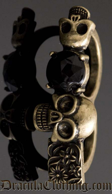 Skeleton Knuckle Duster Ring