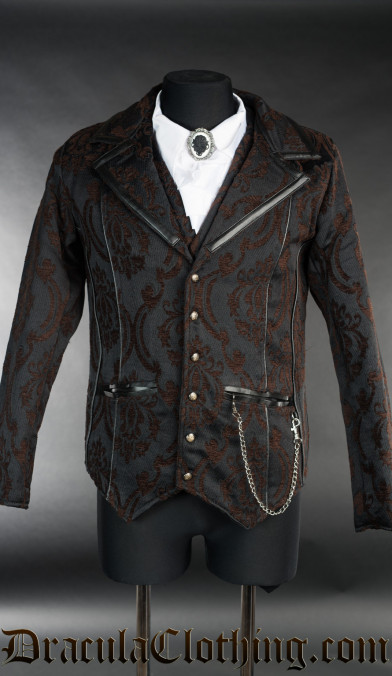 Steampunk Brocade Tesla Jacket