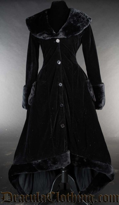 Velvet Pocket Winter Coat