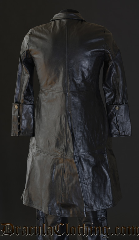 Leather Officer Coat