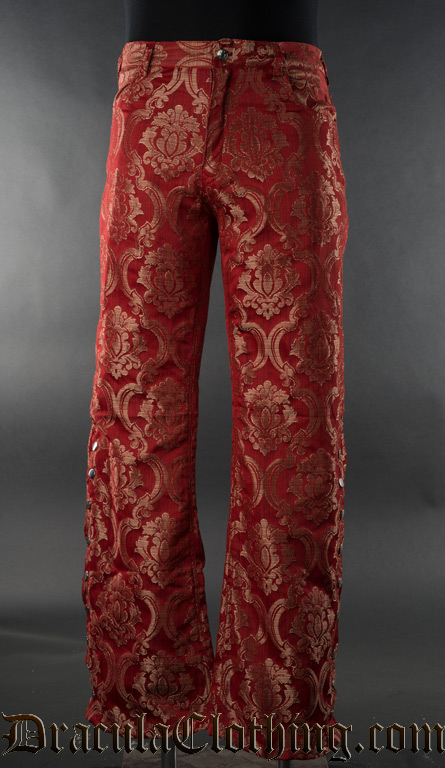 Red Royal Pirate Officer Pants