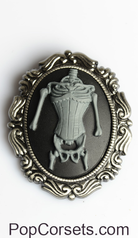 Skeleton Corset Brooch