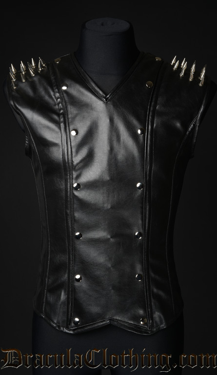 Spiked Faux Leather V-Shaper
