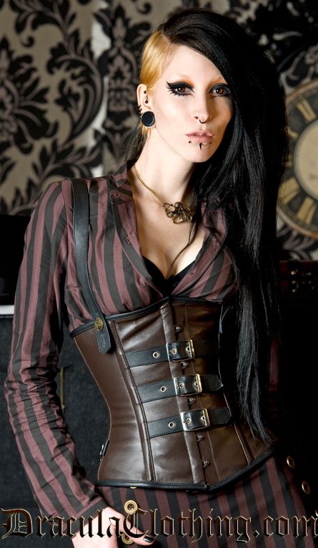 Steampunk Buckle Leather Corset